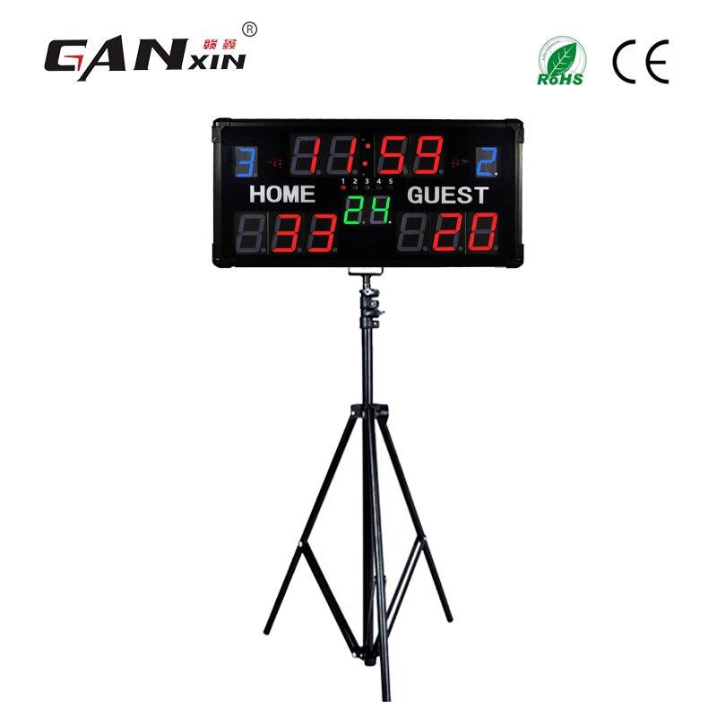 Ganxin Models adjustable multi functional digital electronic scoreboard LED sports scoreboard