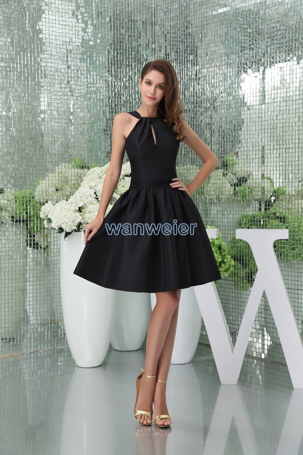 free shipping 2015 new design brides maid gown custom size/color short balck sexy clubbing   dresses   ladies halter   Cocktail     Dress