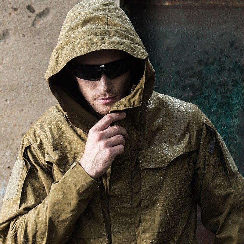 Mens Winter Jackets And Coats Parka Thin Outwear Waterproof Windproof Windbreaker Hiking Army Military Jacket Men