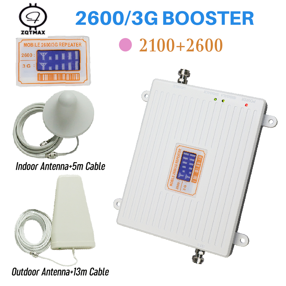 Celular 4g Repeater 2600 Wcdma 2100 Signal Booster Amplifier Tele2 For 3g 4g Internet Amplifier Cell Cell Phone Signal Booster