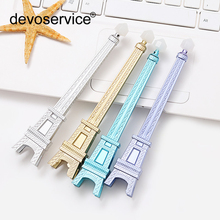 2PCS 0.5mm Cute Kawaii Plastic Erasable Gel Pens Creative Tower Erasable Pen For Kids Gift Stationery Gel Pens Stationary Store