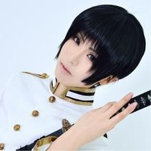 Fashion APH Axis Powers Hetalia JAPAN Honda Kiku Short Straight Black Bob Wig Synthetic Hair Cosplay Party Wig Free Shipping