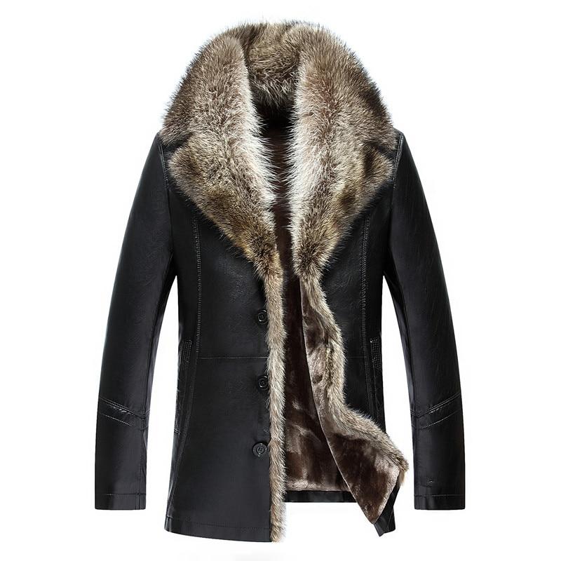 mens russia pilot winter real fur leather jacket fur coat. Black Bedroom Furniture Sets. Home Design Ideas