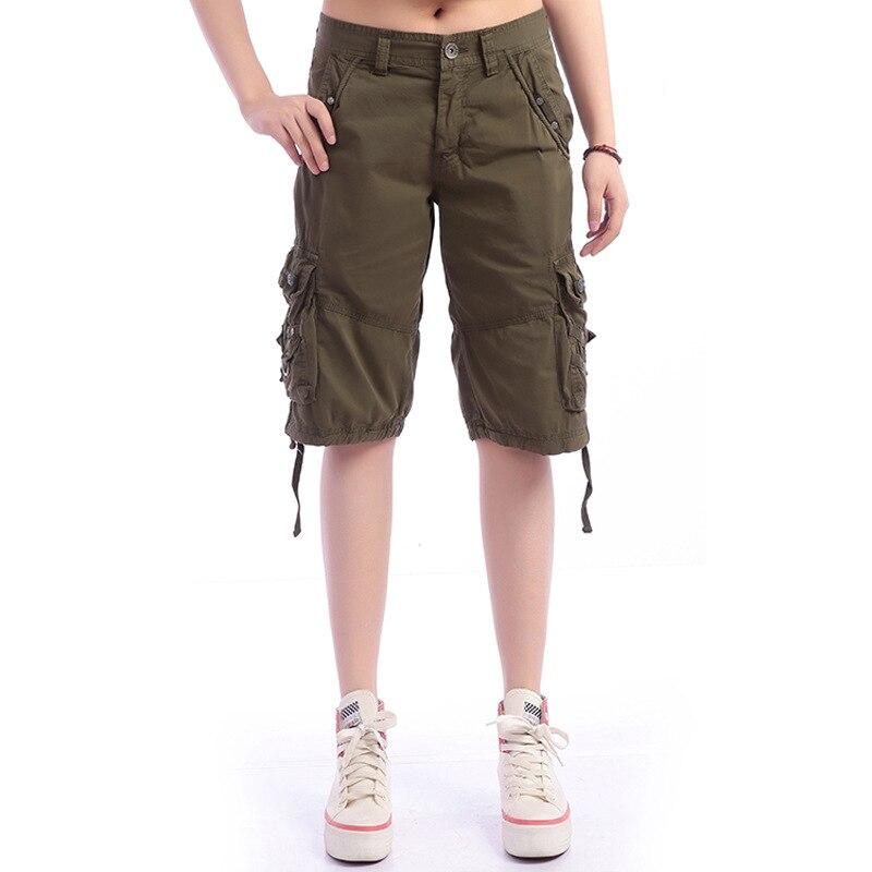 2016 summer women Outdoor sport running cargo shorts Ladies ...