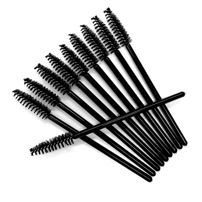 Nagaraku wholesale 100pcs mascara eyelash make up brush for Mascara with comb wand