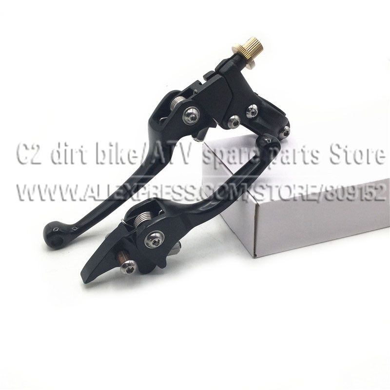 Aleación de aluminio negro Embrague universal Palanca de plegado del freno para ASV F3 Series 1ST Dirt Bike Pit moto de motocicleta KXF CRF YFZ KLX