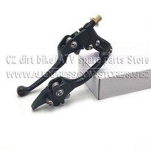 Black Aluminum Alloy Universal Clutch Brake Folding Lever For ASV F3 Series 1ST Dirt Bike Pit bike Motorcycle KXF CRF YFZ KLX