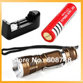 1set Hot 1800 Lumen Zoomable CREE XM-L T6 LED 18650 Flashlight Torch Zoom Lamp Light+Battery+Charger