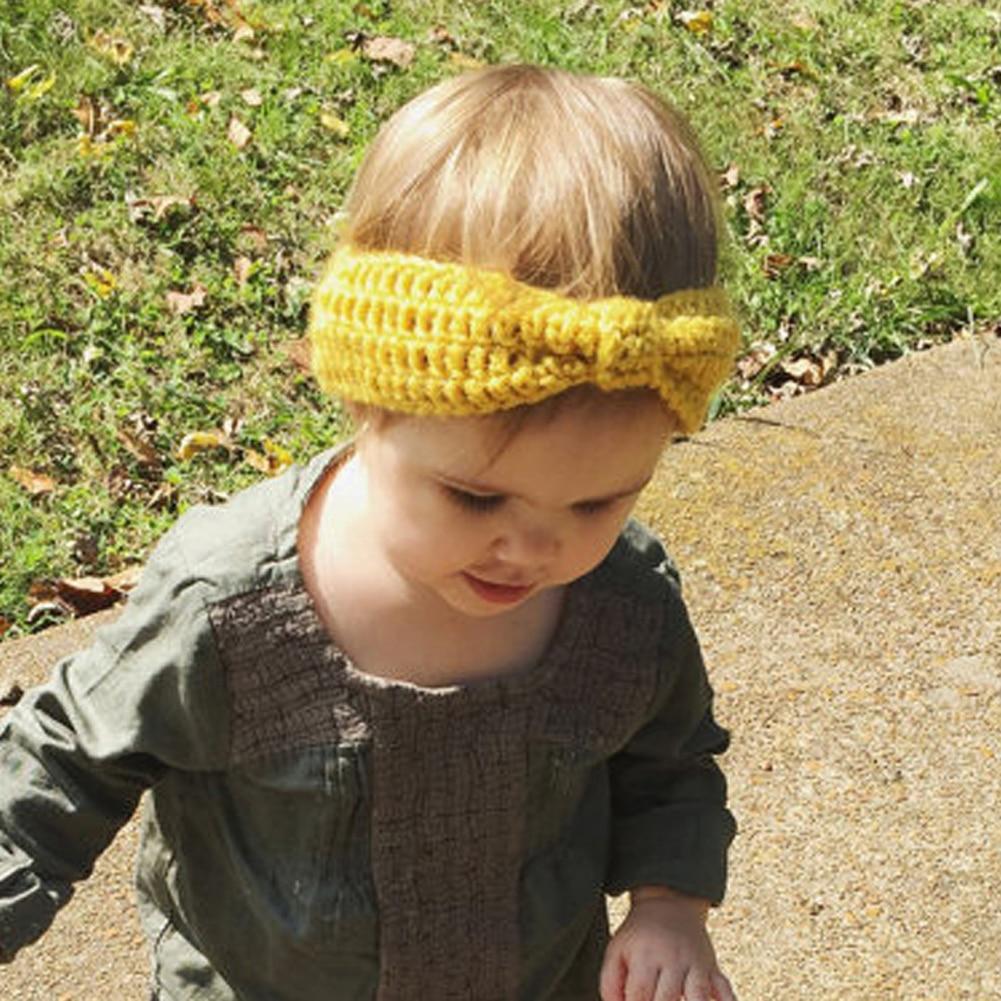 New Headband Accessories Knit Crochet Top Knot Elastic Turban Headband Girls Head wrap Hair Bands Ears Warmer