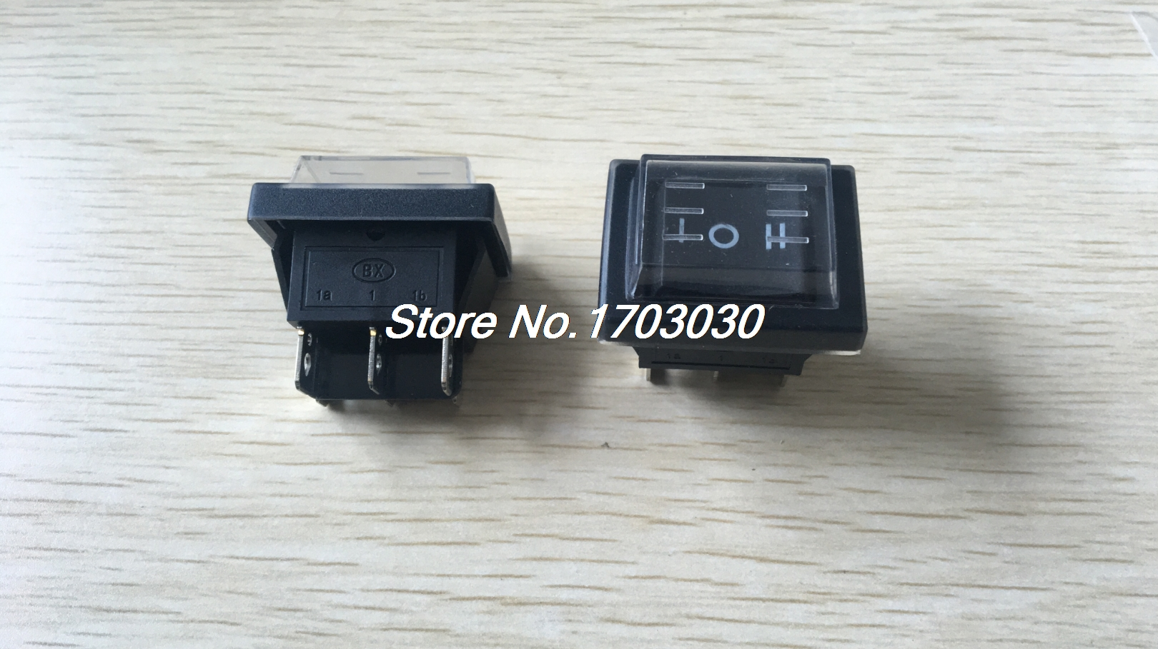 цена на 2PCS Black Button 3 Positions 6Pins Panel Mount Waterproof Rocker Switch DPDT