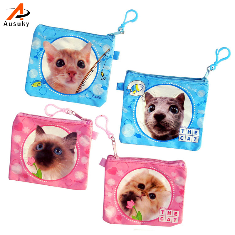 Hot Sale !!! Female Wallet / Child Purse Cute Cat Dog Waterproof Zipper Coin Purse Coin Bag New Design 45 100g food grade l theanine powder anti anxiety soothing mood calm the nerves