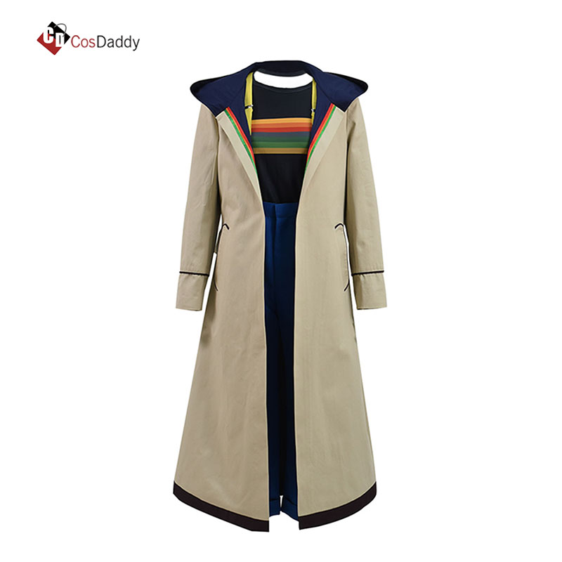 Doctor Who Cosplay Costume Jodie Whittaker Trench e Impermeabili Cappotto outwear Outfit movie tv giacca COSDADDY