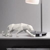 Простая бумага из смолы складные статуи гепарда скульптуры черно белые животные креативные домашние офисные мягкие украшения подарки реме