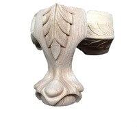 12x6cm European Furniture Solid Legs Carved Wood Bathroom Cabinet Wood Foot
