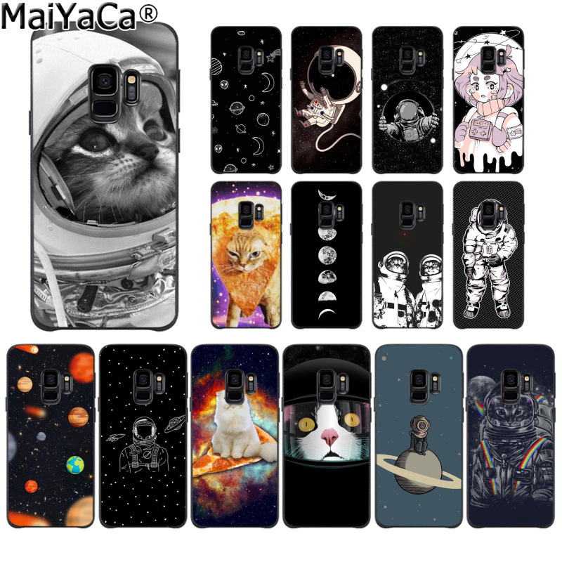 Faithful Maiyaca Funny Space Love Moon Astronaut Pizza Cat Phone Cover For Samsung S9 S9 Plus S5 S6 S6edge S6plus S7 S7edge S8 S8plus Excellent In Cushion Effect Phone Bags & Cases