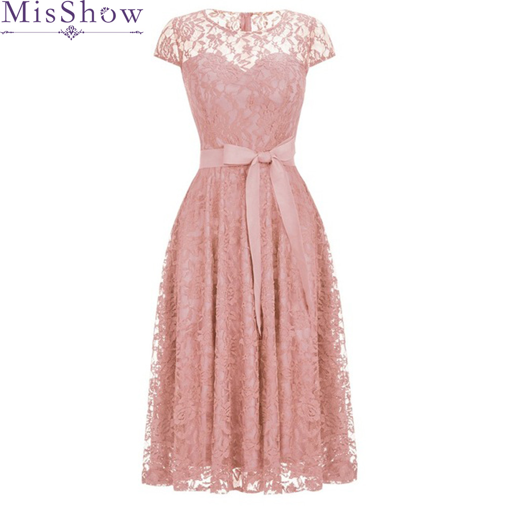 2019 Cheap Bridesmaid Dresses Lace Plus Size Bridesmaid Dress Short Lace Wedding Bridesmaid Gown Formal Party Gowns With sash