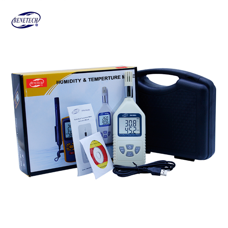 BENETECH GM1360 GM1360A Digital USB hygrometer humidity temperature meter dual LCD display Thermometer with carry box car thermometer indoor thermometer thermal camera humidity u0026 temperature meter gm1360