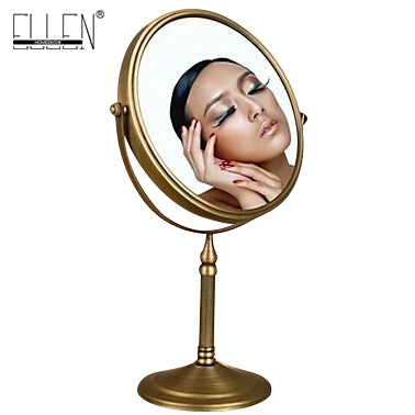 Antique Mirror Bathroom Free Standing Solid Brass Magnifier Mirror In The Bath 8 Inch 3x