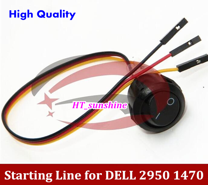 100pcs High Quality Power starting line Switch cable Normally open three lines for DELL 2950 1470 Server ...
