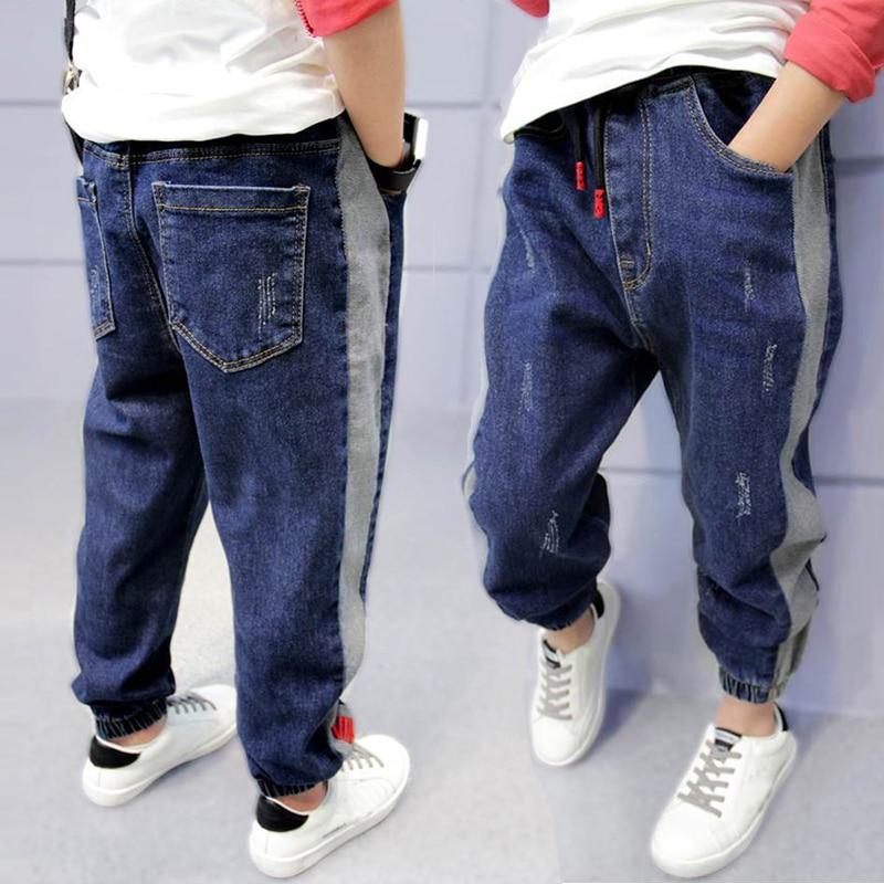 DIIMUU Baby Boys Jeans Children Boy Denim Long Pants Trousers Clothing
