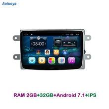 Aoluoya IPS RAM 2 GB + 32 Android 7.1 รถวิทยุ DVD GPS player สำหรับ Renault Duster 2011 2012 2013 2014 2015 2016 มัลติมีเดีย