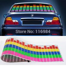 цена на Free Shipping! Music lamp 114CM*30CM Car Music rhythm lamp led sound activated equalizer Multi color flashing 5 Colors