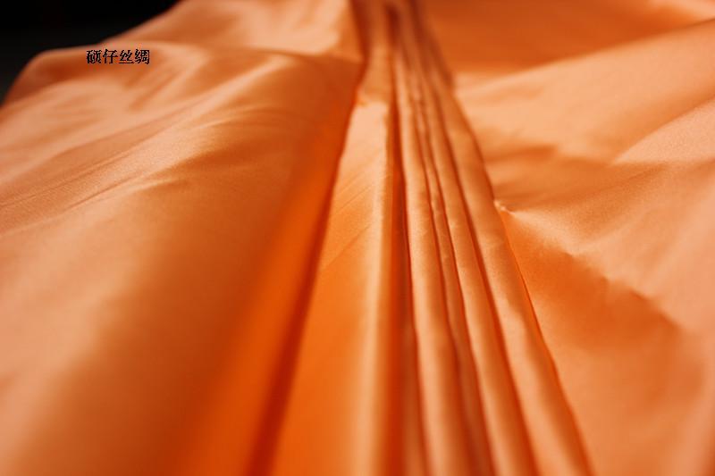 100% pure mulberry Hard Silk fabrics Solid Color Silk satin organza Coat Skirt Scarf dressmaking materials 5 yards I331 gold jade objects and silk fabrics 50g