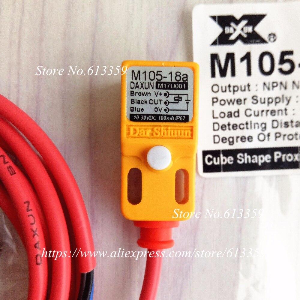 M105-18A DAXUN Proximity Switch Sensor NPN NO 10-30VDC IP67 100mA 100% New & OriginalM105-18A DAXUN Proximity Switch Sensor NPN NO 10-30VDC IP67 100mA 100% New & Original