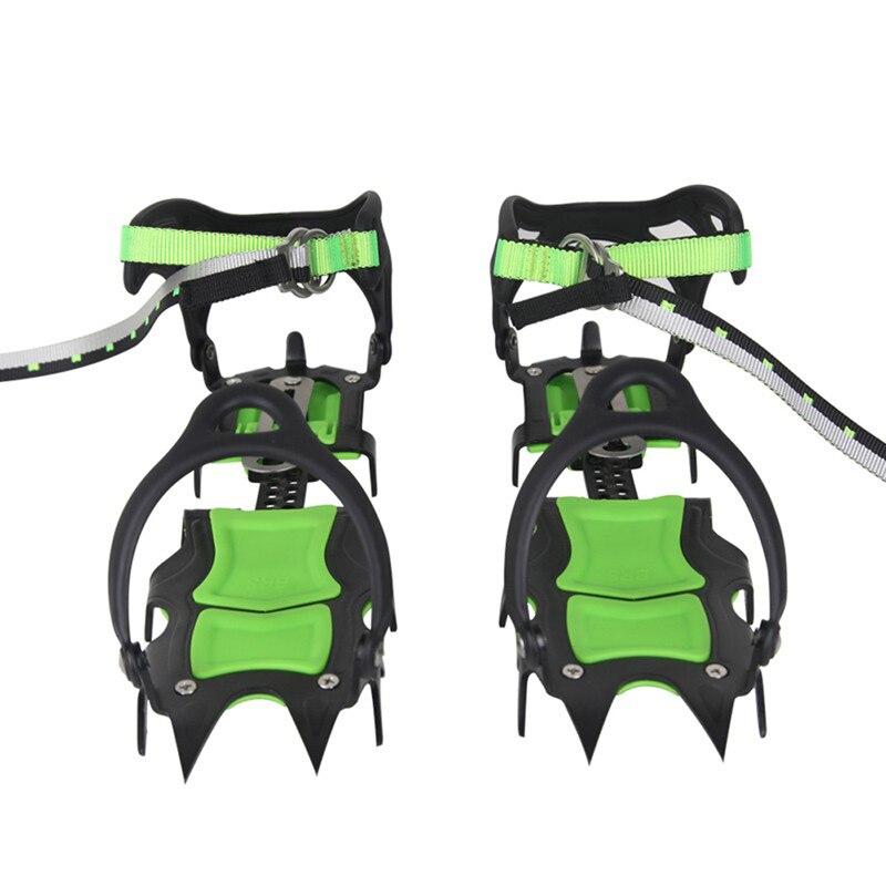 BRS-S1B quatorze dents Crampons groupés professionnel en acier inoxydable pince à glace Crampons à glace planche à neige pour l'escalade de ski
