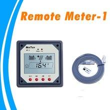 Medidor remoto LCD para controlador de carga Solar de doble batería, reguladores MT 1 con Cable de 10m, mando a distancia gigante