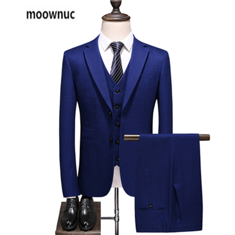 2019 New Autumn Wedding  Suits Men,single-breasted Blazer Man,men's Navy Blue Business Suits,men's Dress Suits, Size S-5XL