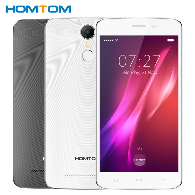 "Original Homtom HT27 Cell Phone 1GB RAM 8GB ROM MT6580 Quad Core 5.5"" Android 6.0 1280*720 8MP 3000mAh Fingerprint Smartphone"