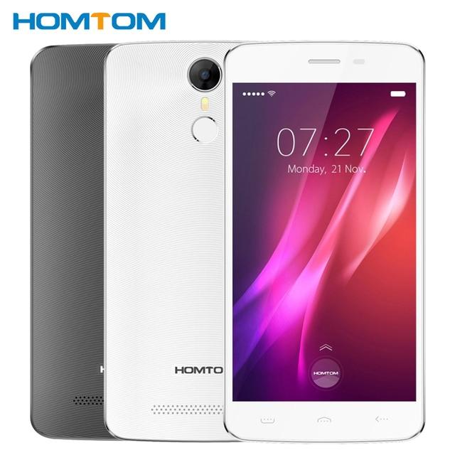 "Original Homtom HT27 Cell Phone 1GB RAM 8GB ROM MT6580 Quad Core 5.5"" Android 6.0 1280*720 8MP 3000mAh Fingerprint Smartphone"