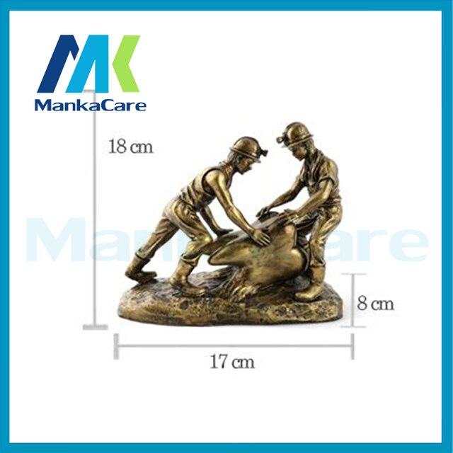 Make concerted efforts Sculpture Handmade Resin Figure Statue Decoration Artwork Gift and Craft Ornament Embellishment