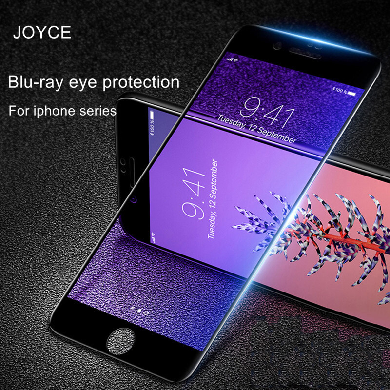AnpassungsfäHig Joyce Anti-blue Ray Auge Schutz Gehärtetem Glas Screen Protector Freies Verschiffen Für Iphone 6 S 7 8 Plus Xr Xs Max Volle Abdeckung Handy-zubehör