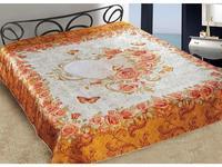 Bedspread euro Maxi Marianna, Silk 3D, Swallowtail, 230*250 cm