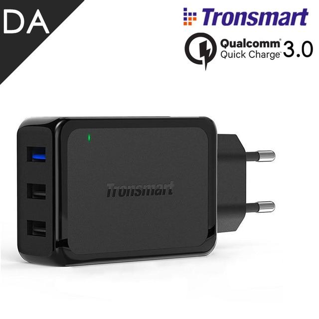 Оригинал Tronsmart W3PTA Qualcomm Быстрая Зарядка 3.0 USB Стены Зарядное Устройство 3 Портов 42 Вт Быстрое Зарядное Устройство для Samsung Galaxy Xiaomi