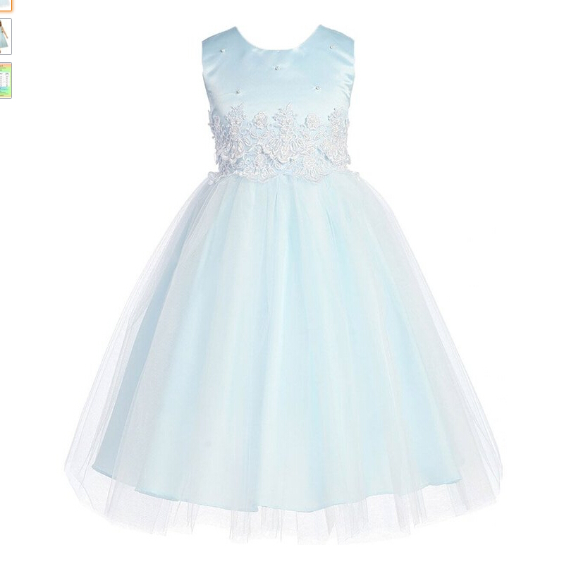3-12yrs Girls Dresses Wedding Dresses cinderella Kids Wear Bow Princess Party  Dress With  Little Flower Lace Baby Girls Clothes high grade 2017 summer new baby girls party dress wedding clothes long tail 1 6 yrs girls flower dresses kids clothes retail