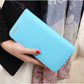 New Arrival Women Wallets Carteira Fashion Candy Color Wallet PU Leather Bag Clutch Women's Long Style Purse Female Coin Purse