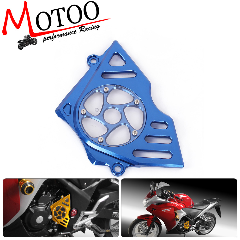 Motoo - CNC Motorcycle Accessories Left Engine Front Sprocket Chain Guard Protection Cover For Honda CBR250R 2011-2014 motorcycle accessories 650tr left front fender