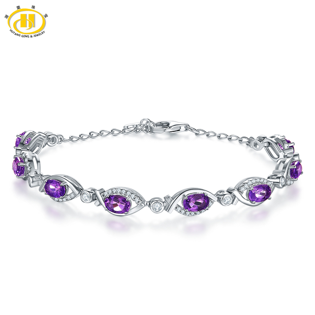 Fine Jewelry Genuine Multi-Colored Gemstone Sterling Silver Bracelet YVkymgDu
