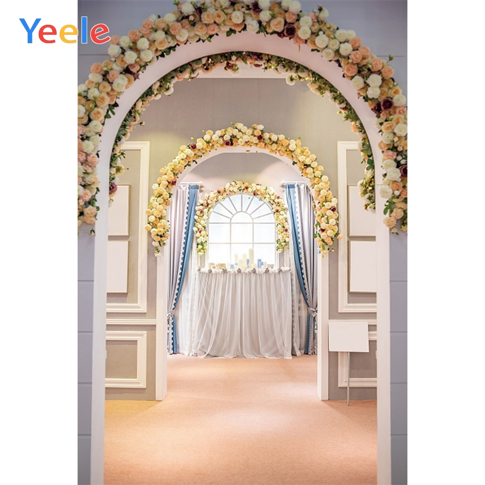 Yeele Wedding Photocoll Archway Garland Wallpapers Photography Backgrounds Personalized Photographic Backdrops For Photo Studio