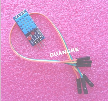 Single-bus digital temperature and humidity sensor DHT11 modules electronic building blocks for arduino with Dupont Line