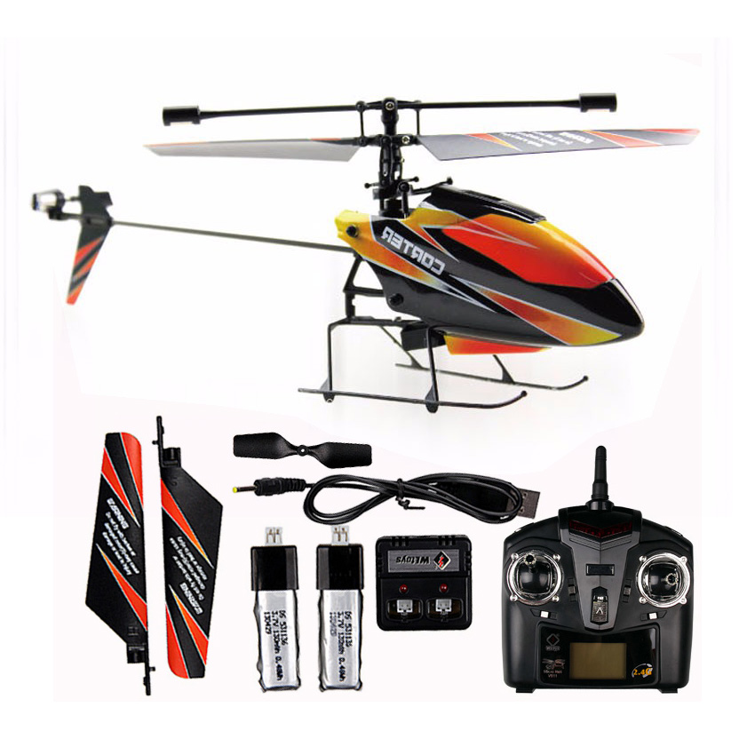 Free shipping wltoys WL V911 RC remote control helicopter drone toy 2.4G plane flying toy helicopter aircraft 2 lipo <font><b>battery</b></font>
