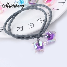10pc/bag 17mm Acrylic Rainbow Transparent Double Color Big Hole Five-pointed star Beads For Jewelry Making Ear nail accessories