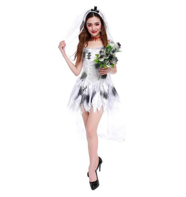 Halloween Bride.Us 19 9 Free Shipping Halloween Bride Groom Idea Couples Costume Adult Fancy Dress Walking Dead Zombie In Scary Costumes From Novelty Special Use