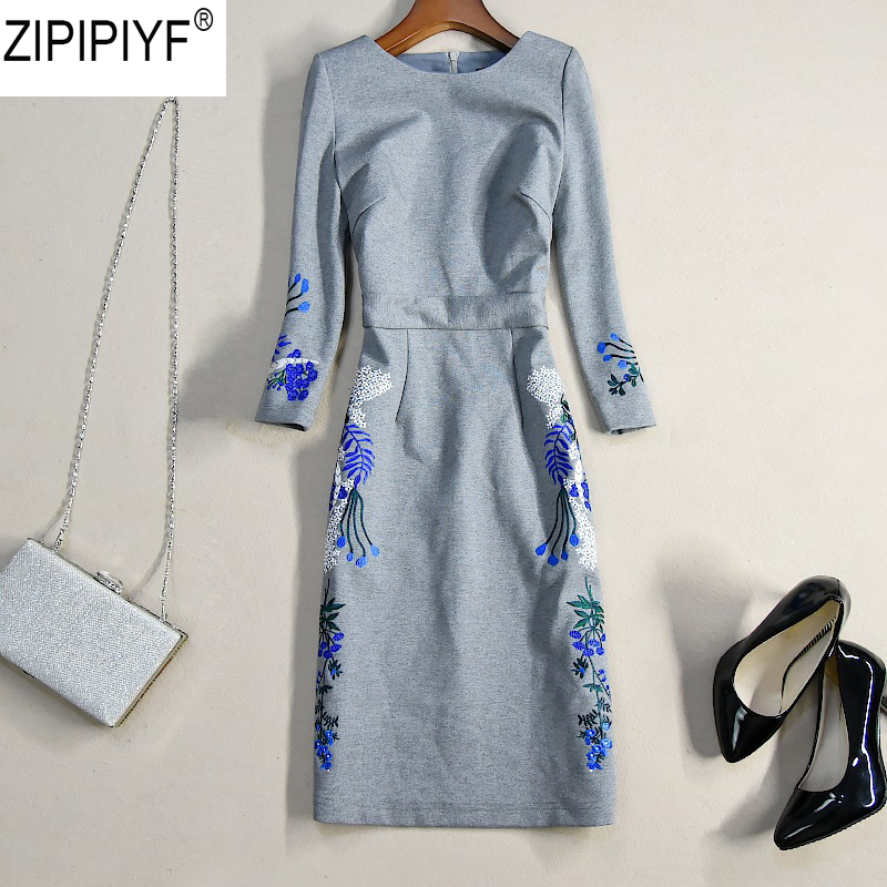 High quality sexy women 3/4 sleeve o-neck embroidery women dress bodycon slim hip female casual knee-length pencil dresses C1191 цена