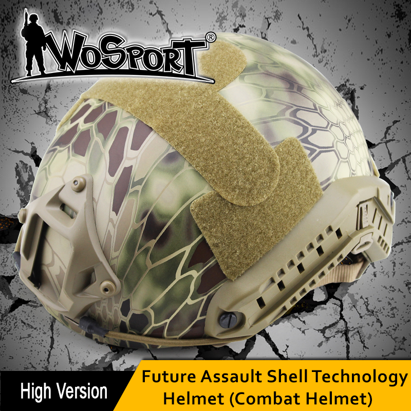 WOSPORT FAST Helmet MH TYPE Tactical Protective Safety ABS Helmet for Airsoft Paintball Sport Cycling Military Combat Field Game tactical maritime helmet cycling helmet for airsoft paintball abs cycling helmet multicam black size m l