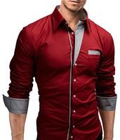Brand New Mens Formal Business Shirts Casual Slim Long Sleeve Dresses Shirts Camisa Masculina Casual Shirts