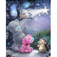 New Full Square Drill 5D DIY Diamond Painting Cartoon Bear 3D Embroidery Set Cross Stitch Mosaic